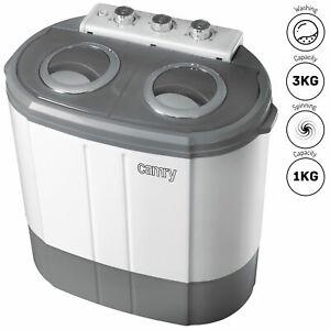 Mini lavadora portátil camping 3Kg lavado, 1 Kg centrifugadora Camry CR 8052