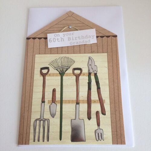 M/&S Grandad Age 60 Garden Shed Birthday Card **FREE P/&P** 60th