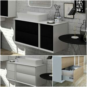 Dettagli su Mobile arredo bagno moderno Bellagio lavabo d\'appoggio 105x46  sospeso|55