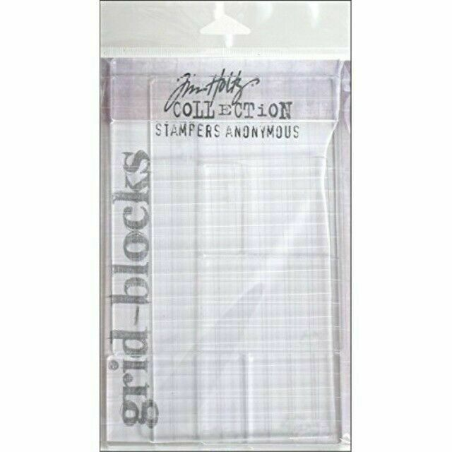 GRID BLOCKS STAMPERS ANONYMOUS 5 PIECES TIM HOLTZ