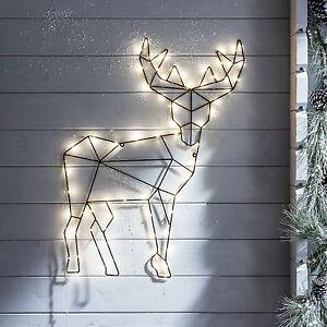LED-Rentier-Weihnachtsdekoration-Wandbeleuchtung-Fensterhaenger-Micro-Lichter