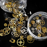 Steam Punk Parts Style Nail Studs 3D Art Decorations Time Wheel Metal Manicure