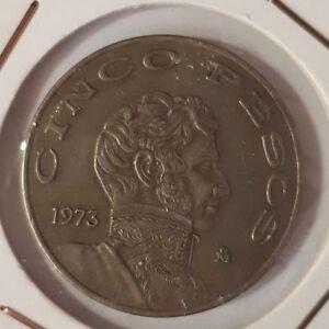 Mexico: 5 Pesos 1973 VF+ - España - Mexico: 5 Pesos 1973 VF+ - España