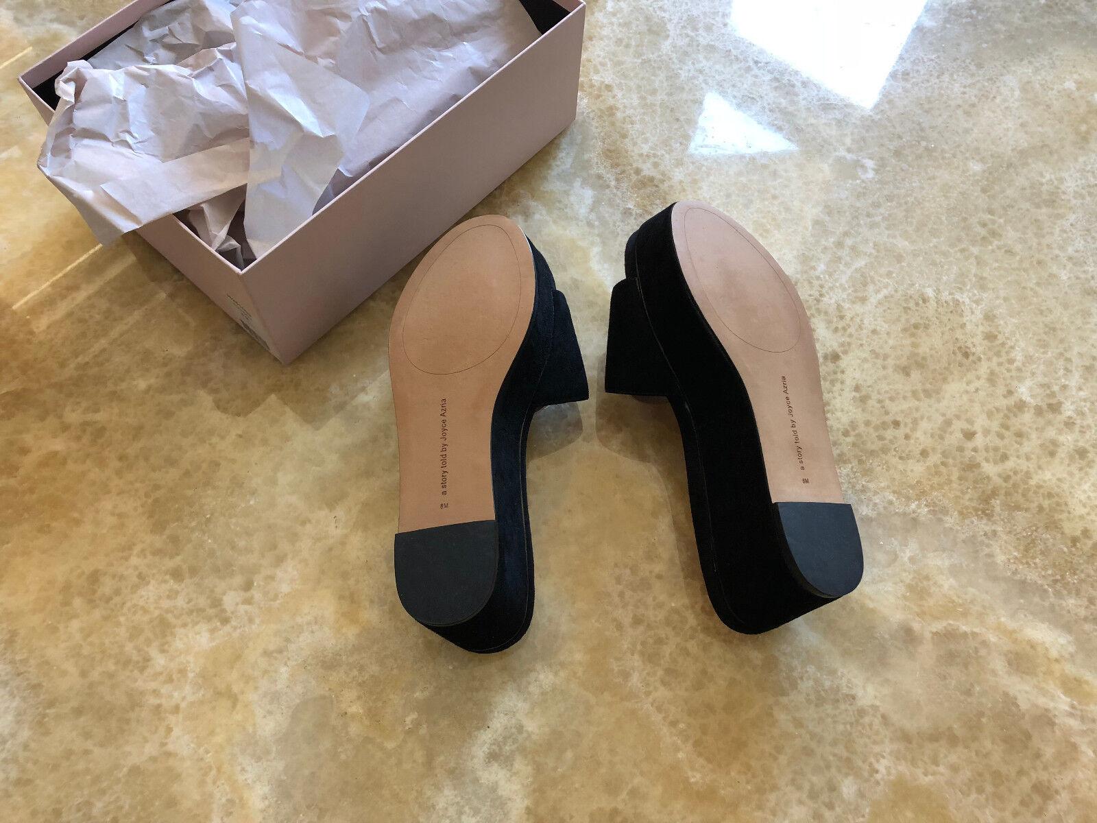 Neri in sandali, pelle scamosciata elegante Flatforms, Plateau Ciabatte zeppa sandali, in 55b424