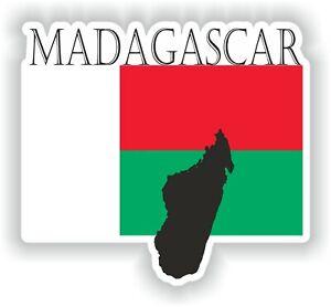 Autocollant du Madagascar sticker résistant aux UV pour voiture frigo porte