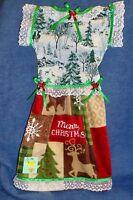 Handmade North Woods Christmas Oven Door Dress Kitchen Hand Towel 534