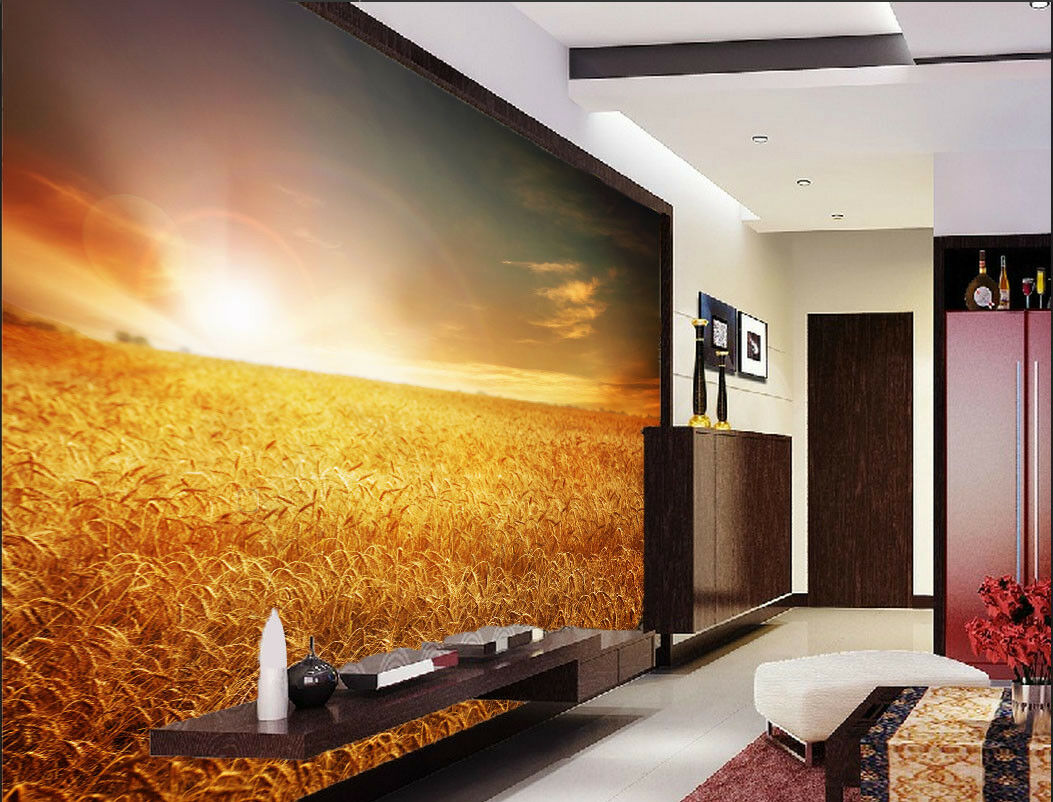 3D Goldenes Weizenfeld 864 Tapete Tapete Tapete Wandgemälde Tapete Tapeten Bild Familie DE | Nutzen Sie Materialien voll aus  |  06b33d