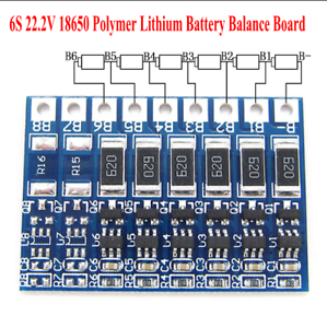 6S 22.2V 18650 Li-ion Lithium Battery Polymer Battery Balance Function Board