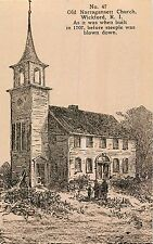 Old Narragansett Church, Before the Steeple Was Blown Down, Wickford RI,