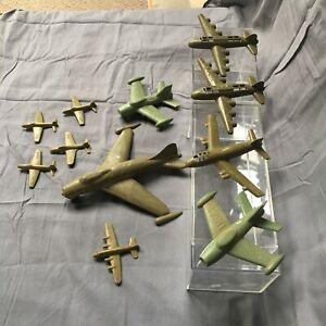 11-LOT-USAF-toy-airplane-Payton-Irwin-Air-Force-military-army-green-plastic