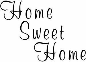 Image Is Loading HOME SWEET HOME Sticker Wall Decor Art Quote