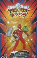 Power Rangers Jungle Fury 5 Red Sound Fury Tiger Ranger Factory Sealed 2007