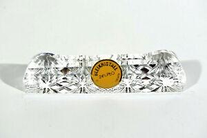 6x-Sixties-Plomb-Verre-Moule-Porte-Couteau-Etiquette-Jamais-Utilise-En-Ovp