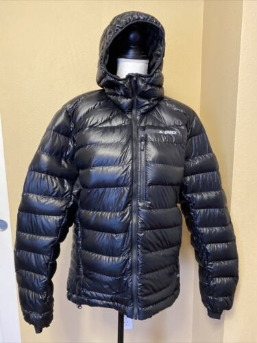 ADIDAS TERREX CLIMAHEAT Size M Black Quilted Down