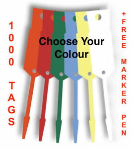 Vinyl Key Tags x 1000 With Free Felt Tip Marker -Disposable Tags -FREE POSTAGE