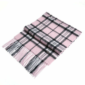 Auzland-UGG-Pure-Wool-Scarf-Pink-Check