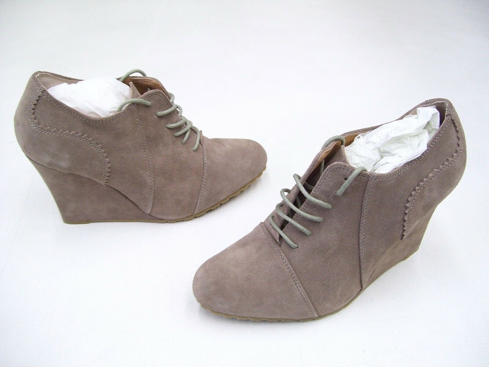 TONY BIANCO LYNX BEIGE SUEDE LACE UP ANKLE BOOTS DRESS SHOES SIZE 10 NEW