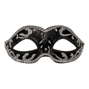 dfeaa5f183d5 Image is loading Blue-Banana-Masquerade-Black-Silver-Fancy-Dress-Costume-