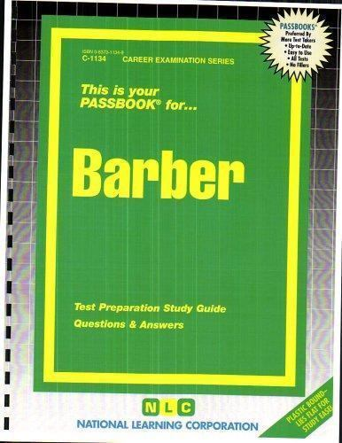 National Learning Corporation-Barber BOOK NEW