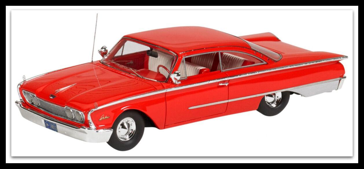 Maravilloso modelCoche Ford Estrellaliner Galaxy 1960-Roja-Escala 1 43