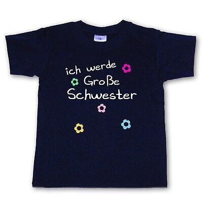 Gelernt T-shirt - Ich Werde Große Schwester - Wahl: Motiv, Wunschname, Größe * Neu * Seien Sie Freundlich Im Gebrauch
