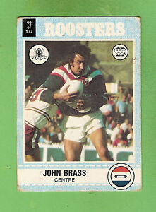 1977-EASTERN-SUBURBS-ROOSTERS-SCANLENS-RUGBY-LEAGUE-CARD-92-JOHN-BRASS