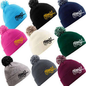 517f11355 Details about MORGZ Embroidery Kids Snowstar Beanie Wolly Winter Hat Xmas  TopPresent