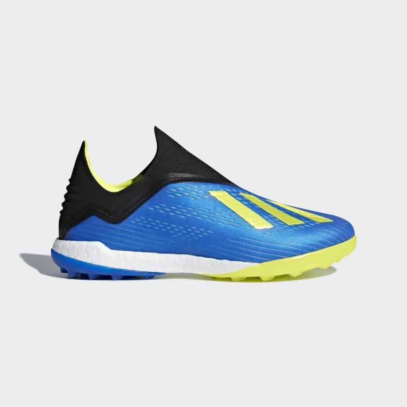 Adidas Men's X Tango 18+ TF Turf Indoor Soccer shoes Boost bluee - BB6595