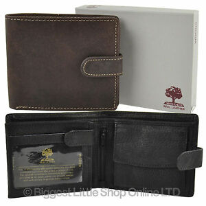 NEW-MENS-LEATHER-Tri-Fold-WALLET-by-Woods-Change-Section-Flip-Out-VALUE-Gift-Box