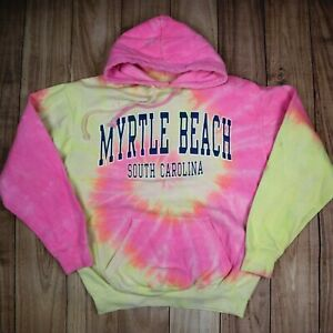 Vintage-Tie-Dye-Hoodie-South-Carolina-Festival-Hipster-Hoody-Hooded-Rainbow