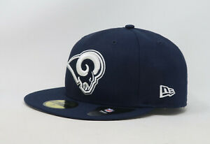 New-Era-59Fifty-Hat-Mens-NFL-Los-Angeles-Rams-Blue-White-Custom-Fitted-Cap-5950