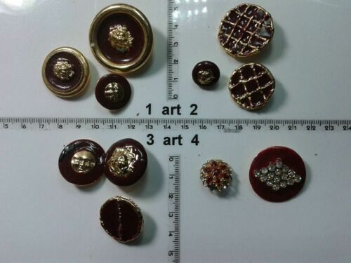 1 lotto bottoni gioiello smalti pietre bordo murrine buttons boutons vintage g3