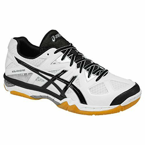 Asics Gel Tactic B554N-0190 White/Black/Silver volleyball womens shoes Size 12