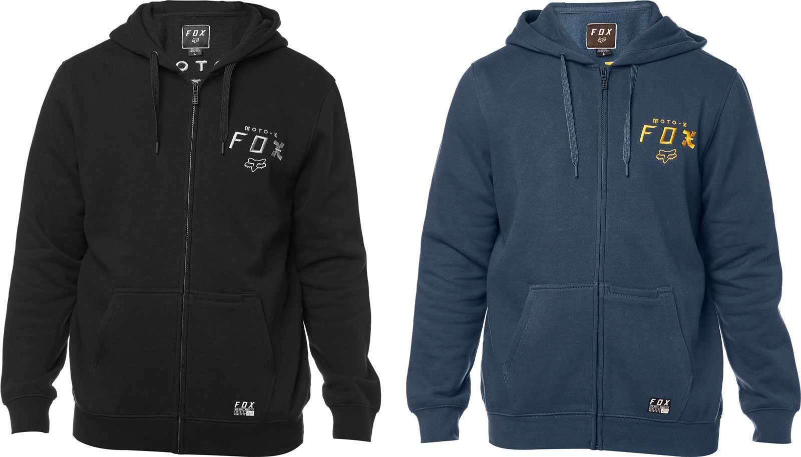 Fox Racing Darkside Zip Up Hoodie - Fleece Sweatshirt Hoody Men MX Motocross