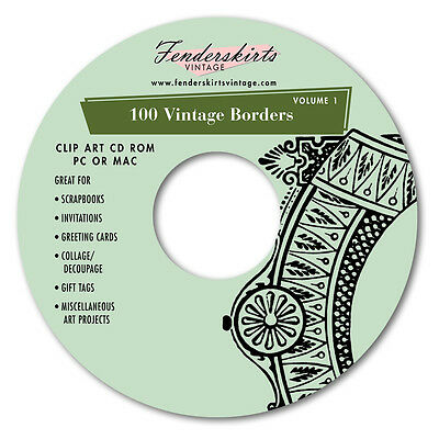 Vintage Retro Borders Images Clip Art Clipart CD Scrapbooking Windows Mac