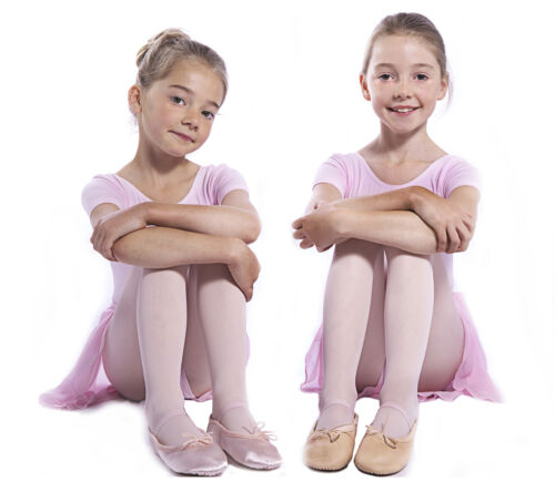 Girls Toddler// Infant BALLET SHOES Pink LEATHER Soft Pumps Sizes 4,5,6,7.8,9,10