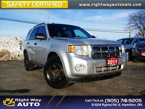 2011 Ford Escape XLT | 4WD | SAFETY CERTIFIED