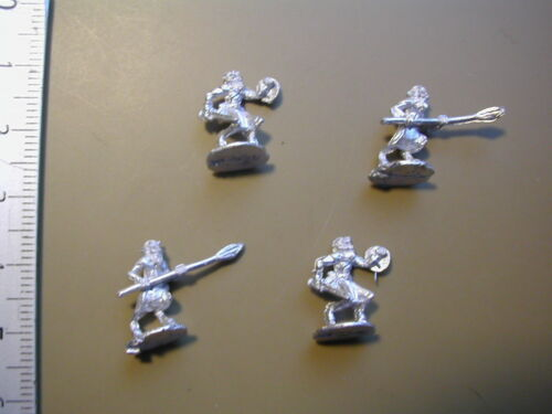 4  X  METAL 15MM FIGS //S.L.M. WOODLANDS REALM FAUN LIGHT INFANTRY