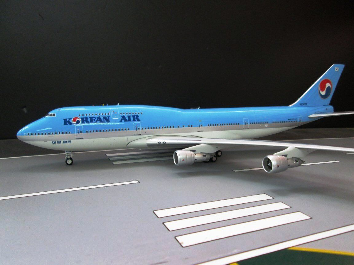 JFOX JF7473002 1 200 KOREAN AIR BOEING 747-300 HL7470 WITH STAND