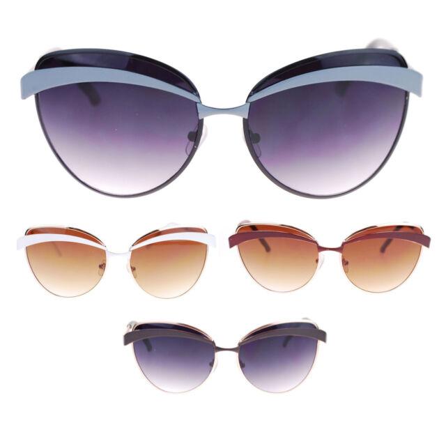 Womens Designer Fashion Eyelash Brow Trim Butterfly Sunglasses