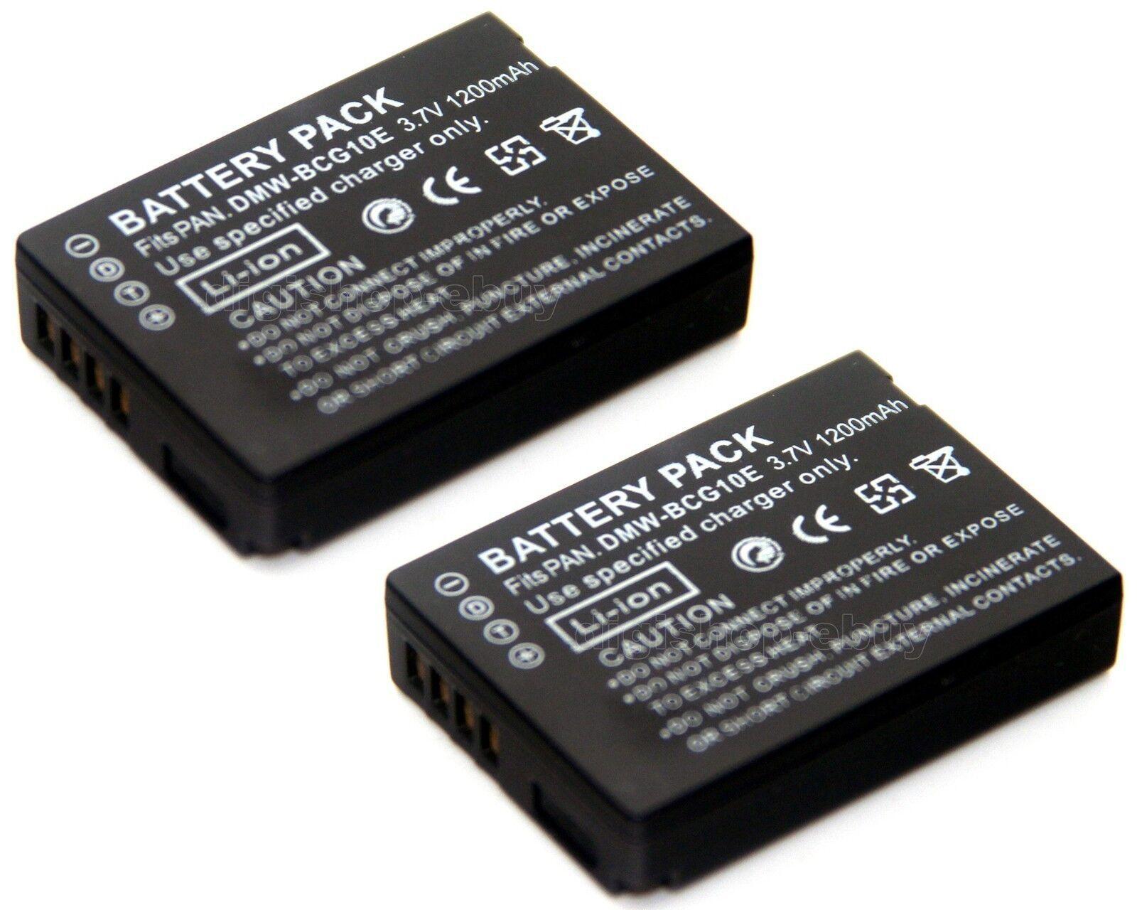 DE-A65 Cargador de batería para DMW-BCG10 Panasonic Lumix DMC-TZ10 DMC-TZ20 DMC-ZS10