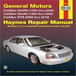 haynes cadillac deville de ville 94 05 concours owners service rh ebay co uk 2007 Cadillac DTS 2005 Cadillac SRX