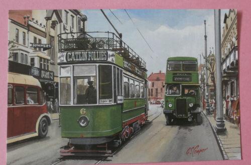 Crosville ECW Leyland PDI /& Open Top Tram Llandudno UDC UK NEW Bus Postcard