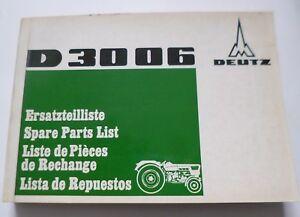 100% De Qualité Deutz Remorqueur D3006 Pièce De Rechange Liste-e Fr-fr Afficher Le Titre D'origine