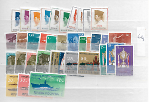 1964-MNH-Indonesia-year-complete-according-to-Michel-system