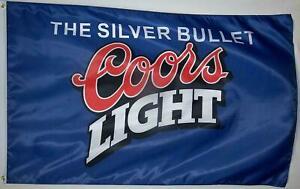 Coors-Light-Bier-USA-grose-150-cm-Fahne-Flagge-Banner-The-Silver-Bullet