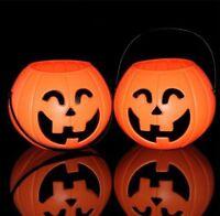 Deko Kürbis Halloween Herbst kunstobst Windlicht Kürbisgesicht Teelichthalter