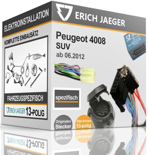 E-Jeu 13 broches spécifique au véhicule pour PEUGEOT 4008 à partir de 06.2012