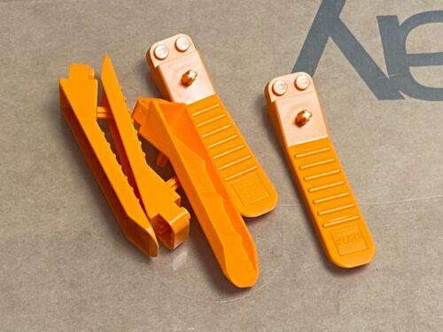 QTY 5 No 96874 Orange Human Tool Brick Separator LEGO Parts