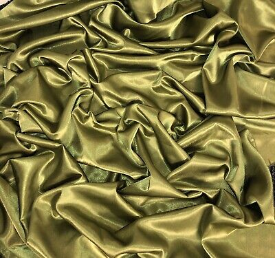 """147cm 1 mtr quality champagne crepe back satin fabric..58"""" wide"""